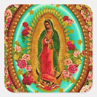 Unsere mexikanische Heilig-Jungfrau Mary Quadratischer Aufkleber