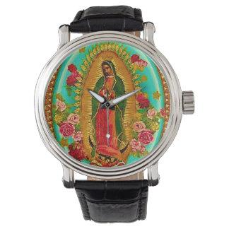 Unsere mexikanische Heilig-Jungfrau Mary Uhr
