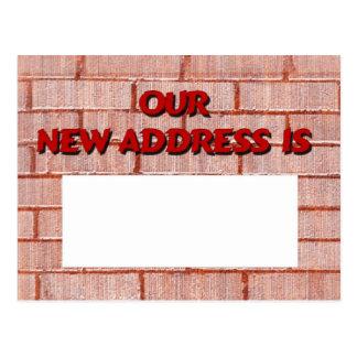 Unsere neue Adresse ist Postkarte
