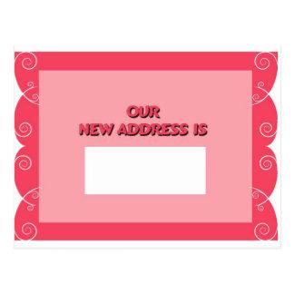Unsere neue Adresse ist Postkarten