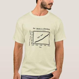 Unsere Welt ändert - Kohlendioxyd T-Shirt
