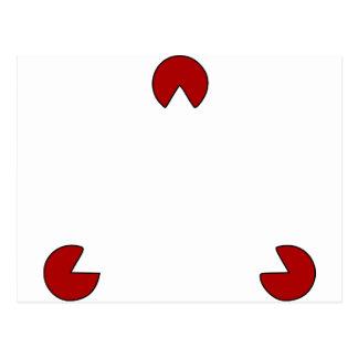 Unsichtbare Dreieck-optische Täuschung Postkarte
