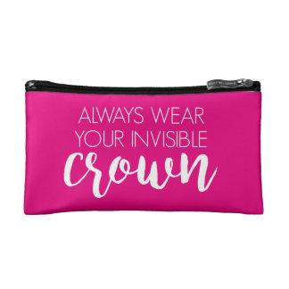 Unsichtbare Krone Kosmetiktasche