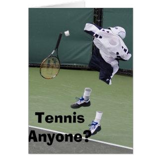 Unsichtbare Tennis-Geburtstags-Karte Karte