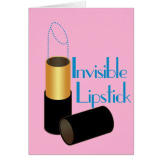 Unsichtbarer Lippenstift Karte