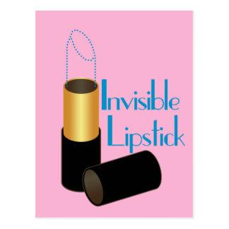 Unsichtbarer Lippenstift Postkarte