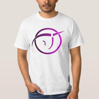 Unsichtbares rosa Einhorn-Logo T-Shirt