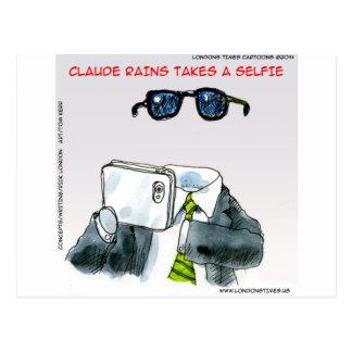Unsichtbares Selfie lustig Postkarte