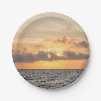 Unsinnigkeits-Strand-Morgen Pappteller