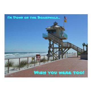 UNTEN AUF DER PROMENADE bei Daytona Beach, Florida Postkarten