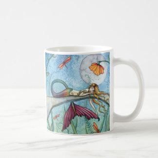 Unten durch die Teich-Meerjungfrau-Kunst Tee Tasse
