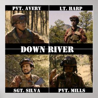 Unten Fluss-Plakat Poster