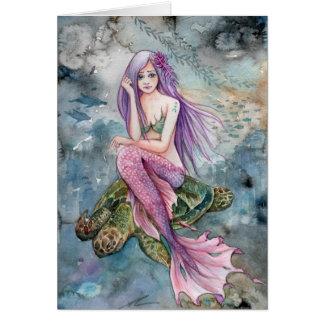 Unten in Atlantis - Meerjungfrau Karte