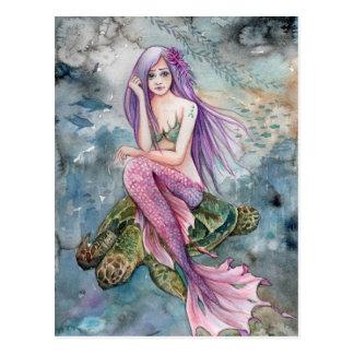 Unten in Atlantis - Meerjungfrau-Postkarte Postkarte