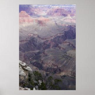 Unten in den Grand Canyon Poster
