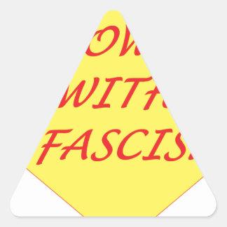 Unten mit Faschismus Dreieckiger Aufkleber