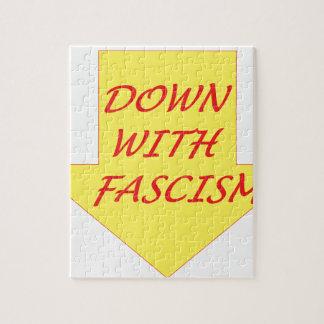 Unten mit Faschismus Puzzle