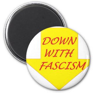 Unten mit Faschismus Runder Magnet 5,1 Cm