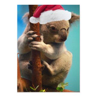 Unten unter Weihnachtskoala Karte