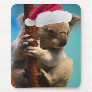 Unten unter Weihnachtskoala Mousepad