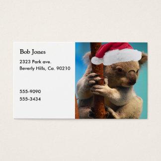 Unten unter Weihnachtskoala Visitenkarte