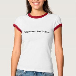 Unter bin mich schulterfrei T-Shirt