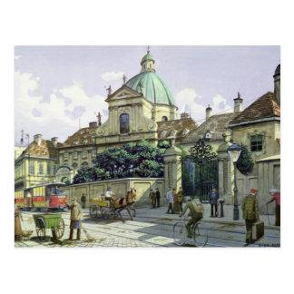 Unter dem Belvedere-Palast in Wien Postkarte