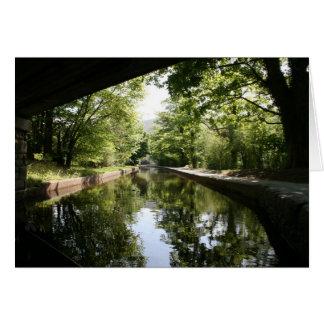 Unter dem Brücke Llangollen Kanal Notecard Karte