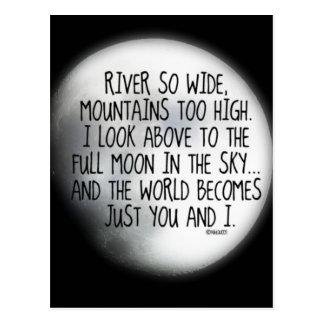 Unter dem gleichen Mond-Gedicht Postkarte