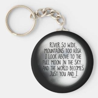 Unter dem gleichen Mond-Gedicht Schlüsselanhänger