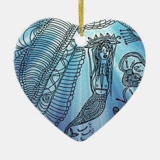 Unter dem Meer Keramik Herz-Ornament
