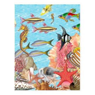 Unter dem Meer Postkarte