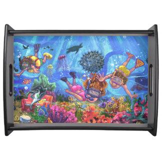 Unter dem Meer Tablett