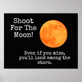Unter den Sternen - Plakat-Zitat - Druck Poster