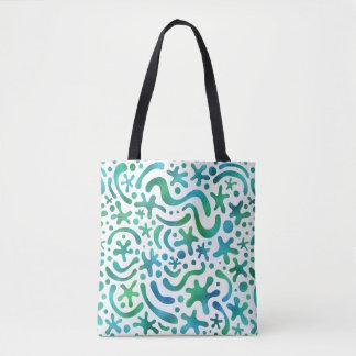 Unter der SeeFunky Blob-u. Squiggle-Muster-Tasche Tasche