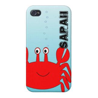 Unter der Seeglücklichen Krabbe iPhone Abdeckung iPhone 4 Cover