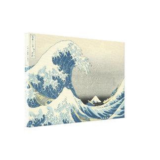 Unter der Welle weg von Kamagawa Leinwanddruck
