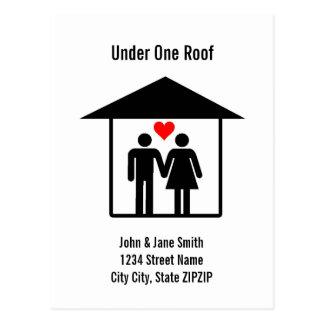 Unter einem Dach Postkarte