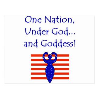Unter einer Nation Postkarte