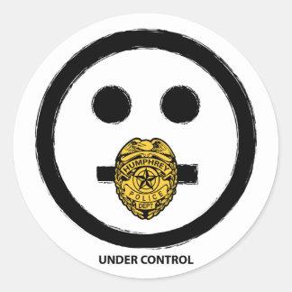 """""""Unter Kontrollen-"""" - Aufkleber"""