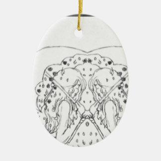Unter meinem Regenschirm Keramik Ornament