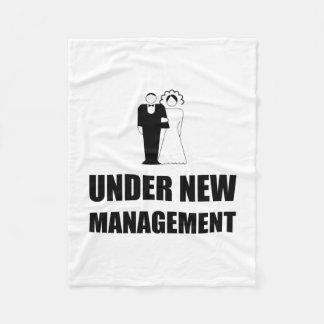 Unter neuer Management-Hochzeit Fleecedecke