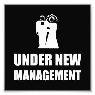 Unter neuer Management-Hochzeit Photo Drucke