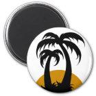 Unter Palmen Runder Magnet 5,1 Cm