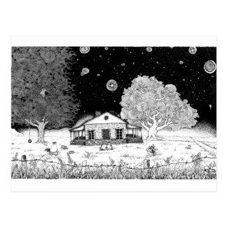Unter Stern-Federillustration Postkarte