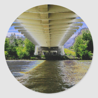 UNTER Sunnyside Strand-Brücke auf Humber Toronto Runder Aufkleber