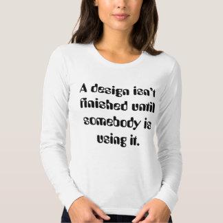 unter Verwendung es Tshirts