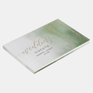 Unter Wasser elegantes Aquarell im Laub, das Gästebuch