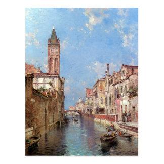 Unterbergers Venedig-Kunstpostkarte Postkarte