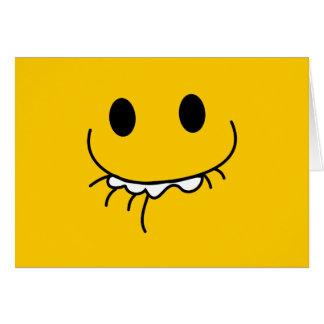Unterdrückter Gelächter-Smiley Grußkarte